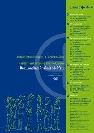 Arbeitsblätter - Jugend im Landtag Rheinland-Pfalz