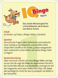 IQ Bingo - Tiere - Online Shop moses. Verlag