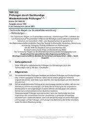 TRR 532 Prüfungen durch Sachkundige ... - mbp-technik.com