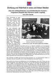 Dichtung und Wahrheit in www und linken Medien - VVN/BdA NRW