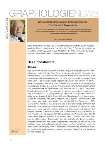 Mit Kinderzeichnungen kommunizieren - Theorie und Taxonomie