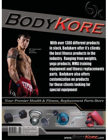 Custom Fabrication Private Labeling - Bodykore