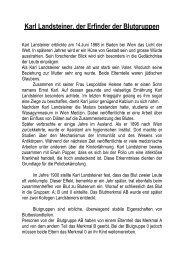 Karl Landsteiner, der Erfinder der Blutgruppen - Schulen Frauenfeld