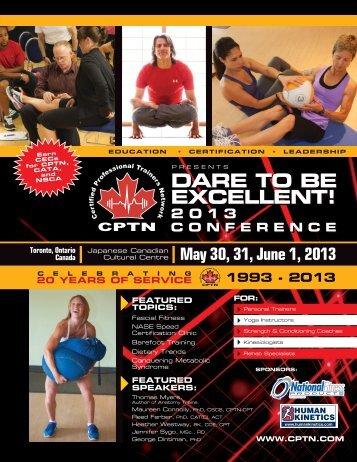 CPTN Conference 2013 Brochure