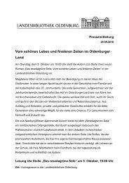 Vom schönen Leben und finsteren Zeiten im Oldenburger Land - der ...