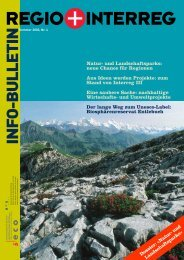 INFO-BULLETIN - Regiosuisse
