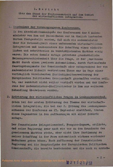 er den Stand der Konferenzarbeit auf dem Gebiet ... - Historici.nl