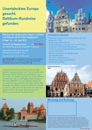 Unentdecktes Europa gesucht. Baltikum ... - TUI ReiseCenter