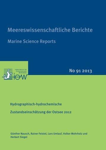 Hydrographisch-hydrochemische Zustandseinschätzung der Ostsee ...