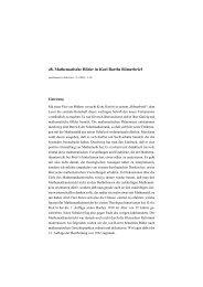 48. Mathematische Bilder in Karl Barths Römerbrief