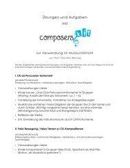Übungen und Aufgaben mit - Composers Kit!