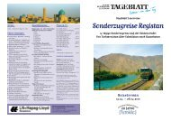 Sonderzugreise Registan - LN-Hapag-Lloyd Reisebüro