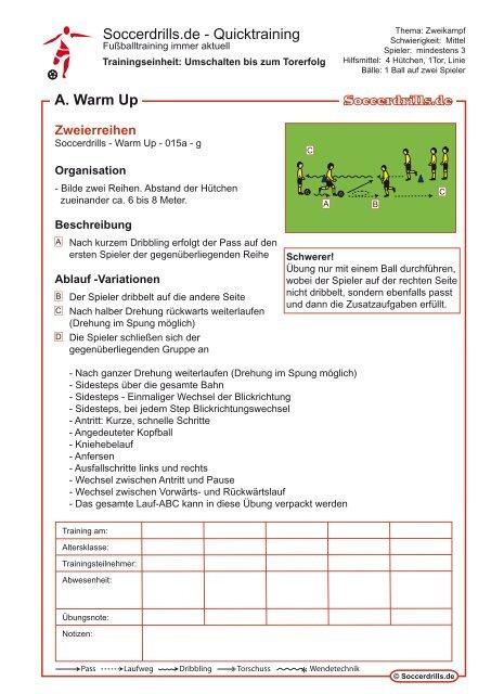 Samtliche Trainingsinhalte Als Pdf 278kb Soccerdrills