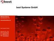 Begrüßung und Einführung [PDF 1.4 M] - best Systeme Gmbh
