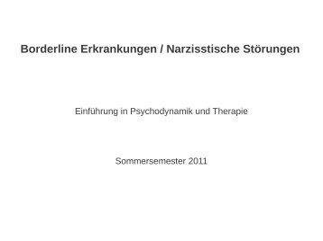 Borderline Erkrankungen / Narzisstische Störungen