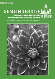 Kirchgemeindebrief Juni - Juli 2013 - Evangelisch-Lutherische ...