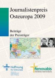 2009 Journalistenpreis Osteuropa - Siegerbeiträge - Renovabis