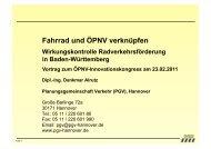 Fahrrad und ÖPNV verknüpfen - ÖPNV Innovationskongress