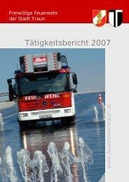 Tätigkeitsbericht 2007 - Freiwillige Feuerwehr der Stadt Traun