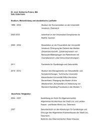 Curriculum von Dr. med. Katharina Putora - Kantonsspital St. Gallen
