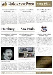 news 03/2006 Hamburg - São Paulo - Beschäftigung + Bildung ev