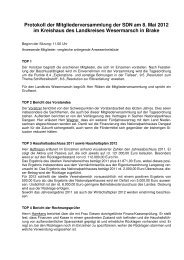Protokoll der Mitgliederversammlung der SDN am 8. Mai 2012 im ...