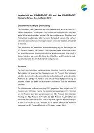 Lagebericht der EHLEBRACHT AG und des EHLEBRACHT ...