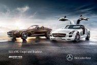Das Prospekt des SLS AMG Coupé und Roadster von Mercedes-Benz.