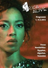 Programmheft - Africa Alive Festival