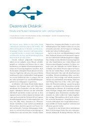 Dezentrale Didaktik - SWOP. Exchange