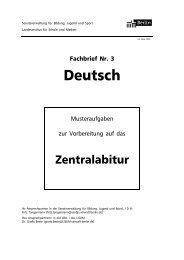 Deutsch, Fachbrief Nr. 3 - Fritz-Kühn-Schule