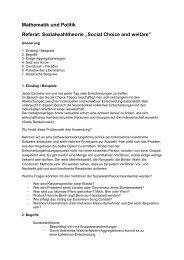 """Mathematik und Politik Referat: Sozialwahltheorie """"Social Choice ..."""