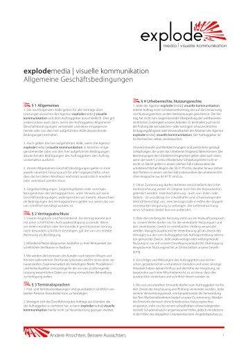 explodemedia | visuelle kommunikation Allgemeine ...