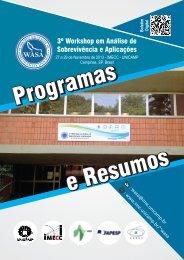 Programas e Resumos 3 WASA 2013