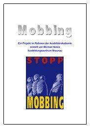 Mobbing unter Lehrlingen