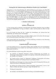 Satzung über die Sondernutzung an öffentlichen Straßen in der ...