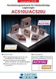 AC510USorte für den Vollschnitt mit extremer Kerbverschleiβfestigkeit