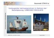 Maßnahmen der Stadt Lübeck zum vorbeugenden ... - RADOST