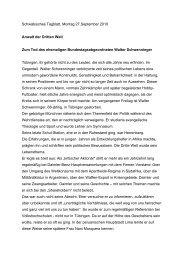 Schwäbisches Tagblatt, Montag 27.September 2010 Anwalt der ...