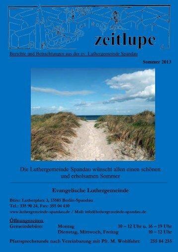 Sommer 2013 - Luthergemeinde Spandau