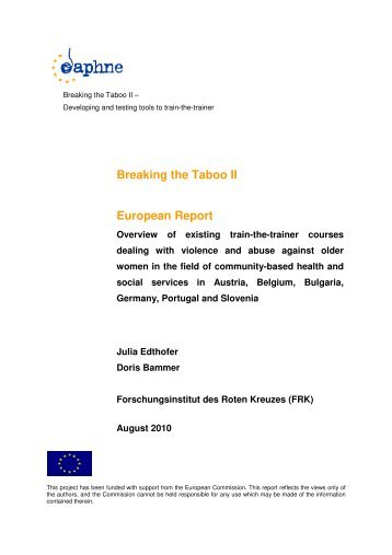 Breaking the Taboo II European Report - Österreichisches Rotes ...