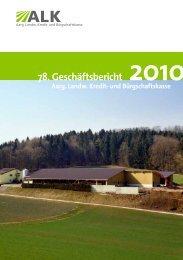 78. Geschäftsbericht - ALK Aargau
