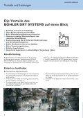 Böhler Dry System, garantiert trockene Elektroden - Böhler Welding - Seite 6