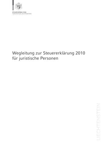 Wegleitung zur Steuererklärung 2010 für juristische Personen - SKC ...