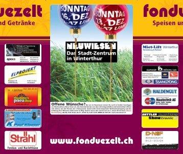 Fondue- und Raclettkäse - Fondue-Zelt