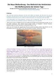 Die Neue Weltordnung - Das Weltreich des ... - Gottes Warnung