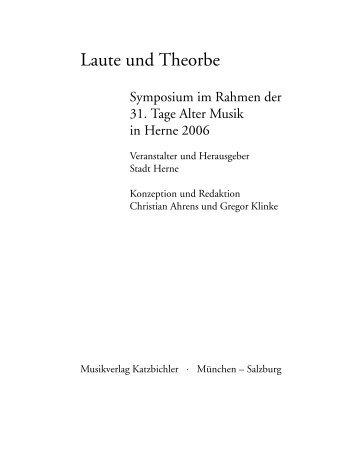 Die Besetzungsfrage der 'Lautenwerke' Johann Sebastian Bachs ...