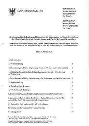 Gemeinsames Rundschreiben des Ministeriums für Infrastruktur und ...