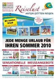 SENSATIONELLE MESSEANGEBOTE - Anton Götten Reisen