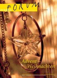 Advent – Weihnachten - Pfarreiforum